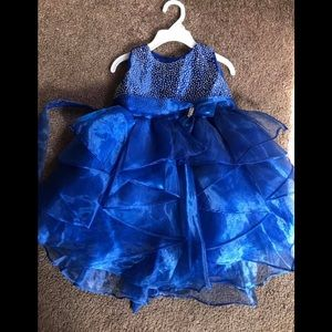 Royal blue 24 months baby girl dress